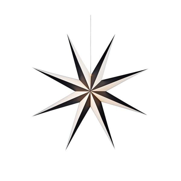 Černo-bílá závěsná světelená dekorace Markslöjd Saturnus, ø 75cm