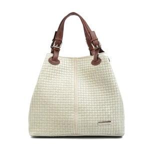Béžová kožená kabelka Isabella Rhea Mihlia