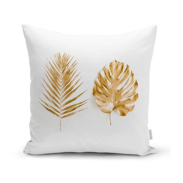 Față de pernă Minimalist Cushion Covers Golden Leafes, 45 x 45 cm