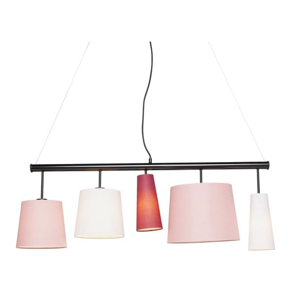 Lustră Kare Design Parecchi, lungime 114 cm, roz