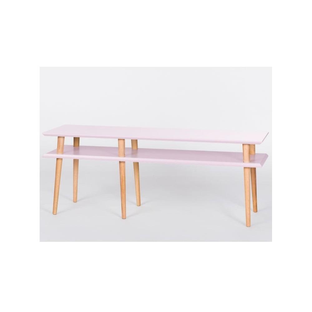 Růžový konferenční stolek Ragaba Mugo, 139 cm