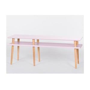 Konferenční stolek Mugo Pink, 159 cm (šířka) a 45 cm (výška)