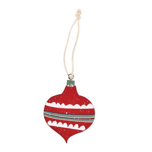 Červená vánoční ozdoba Rex London Bauble
