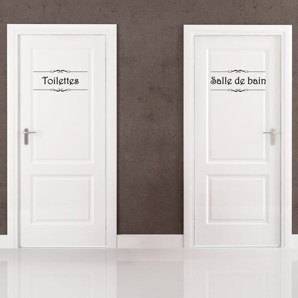 Samolepka Salle de bain + Toilettes