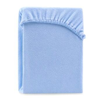 Cearșaf elastic pentru pat dublu AmeliaHome Ruby Light Blue, 220-240 x 220 cm, albastru deschis de la AmeliaHome