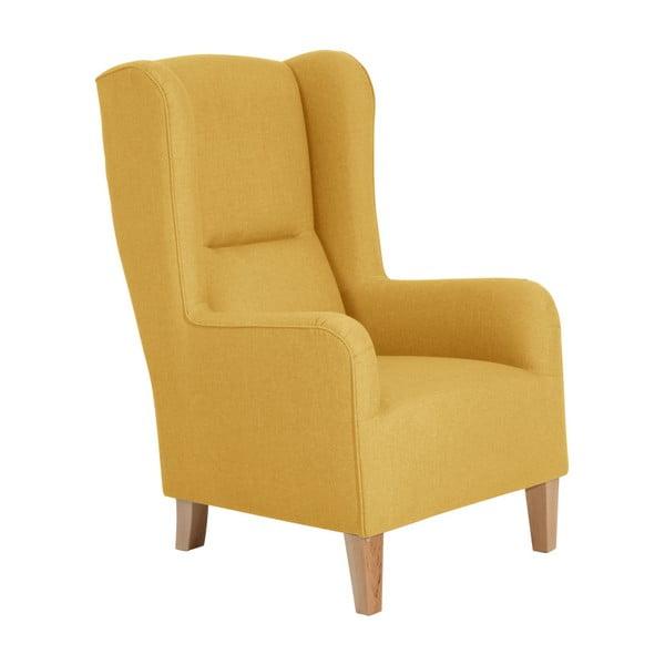 Żółty fotel Max Winzer Bruno