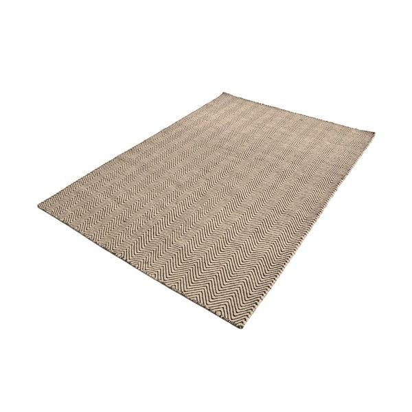 Koberec Flat Brown White, 100x160 cm