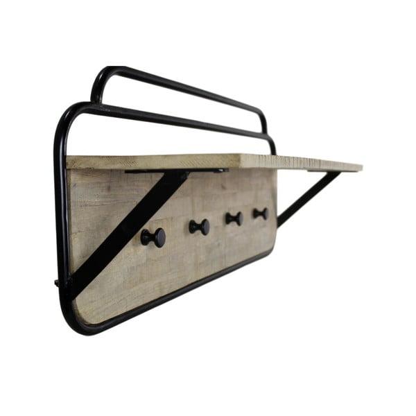 Cuier din lemn de mango și metal HSM collection Kapstok