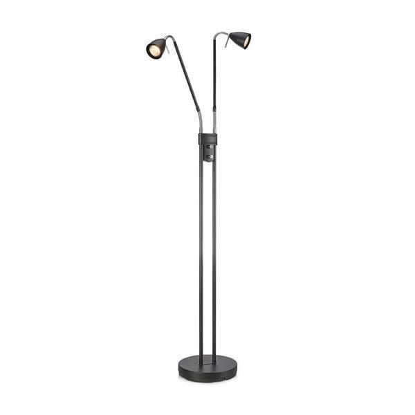 Čierna dvouramenná voľne stojacia lampa Markslöjd Persson, výška 1,5 m