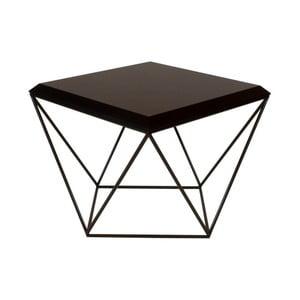 Černý konferenční stolek take me HOME Tulip, 53x53cm