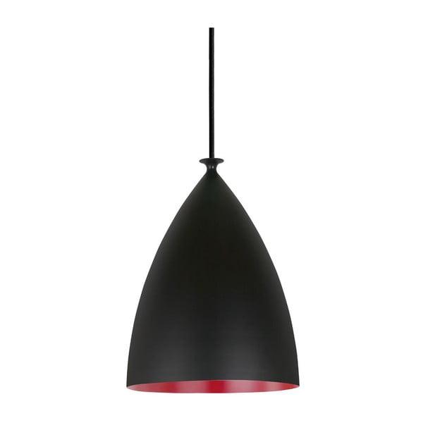 Závěsné svítidlo Nordlux Slope 20 cm, černé/červené