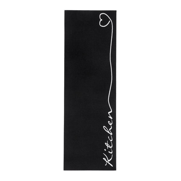 Kitchen fekete konyhai szőnyeg, 50 x 150 cm - Zala Living