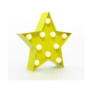 Dekorativní světlo Carnival Star, žluté