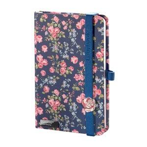 Zápisník Bloomy Rose Blue, A6