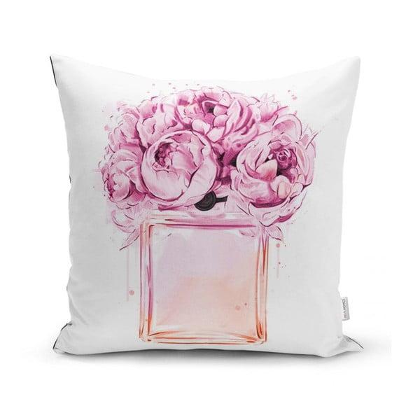 Față de pernă Minimalist Cushion Covers Pink Flowers, 45 x 45 cm