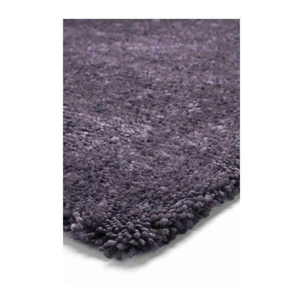 Koberec Spacedyed z novozélandské vlny, 70x140 cm, antracit