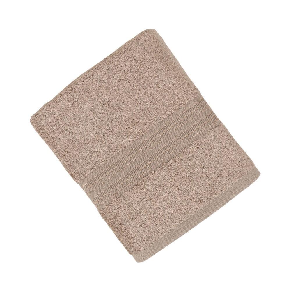 Hnědý ručník z bavlněných a bambusových vláken Ted, 50 x 90 cm
