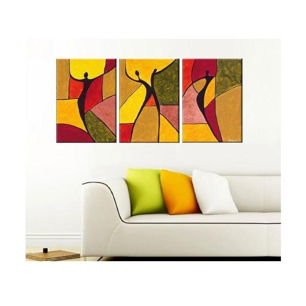 3dílný obraz Geometry Art, 45x90 cm