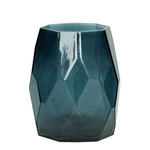 Modrá skleněná váza HF Living Diamond