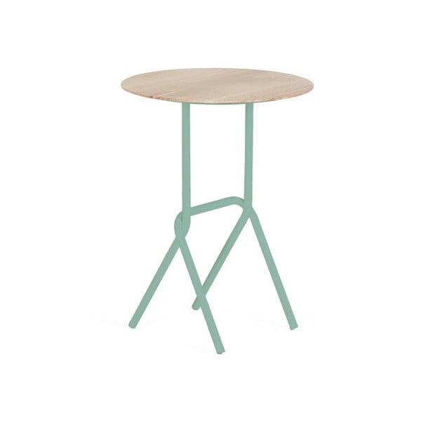 Odkládací stolek s šedozelenou kovovou konstrukcí HARTÔ Désiré, ⌀ 40cm