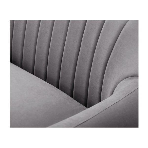 Tmavě šedá trojmístná pohovka Scandi by Stella Cadente Maison Comete, levý roh