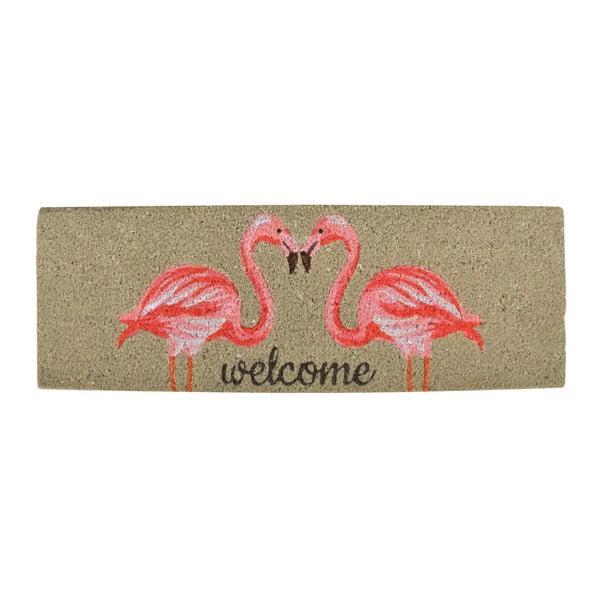 Rohožka z kokosového vlákna Esschert Design Flamingo, 25x75cm