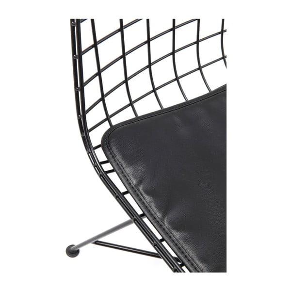 Sada 2 černých ocelových jídelních židlí Kare Design Grid