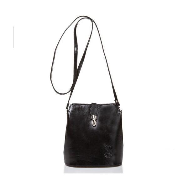 Černá kožená kabelka Massimo Castelli Silverio