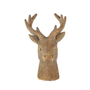 Statuetă decorativă KJ Collection Reindeer Head, 12,5 cm, maro
