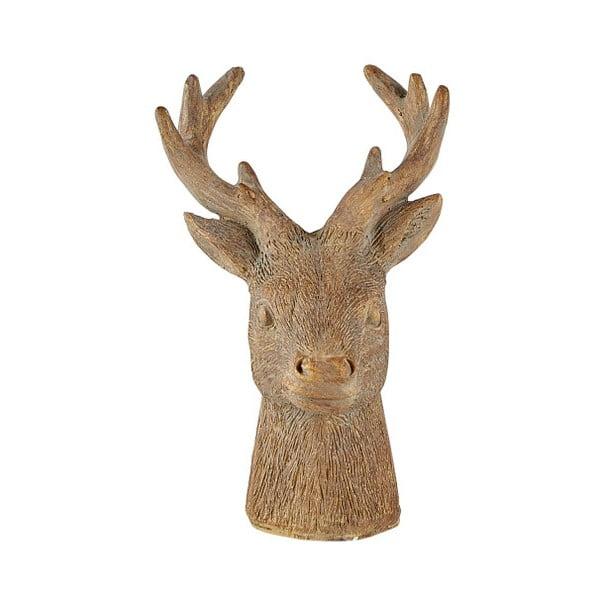 Statuetă decorativă KJ Collection Reindeer Head, 12,5 cm, maro