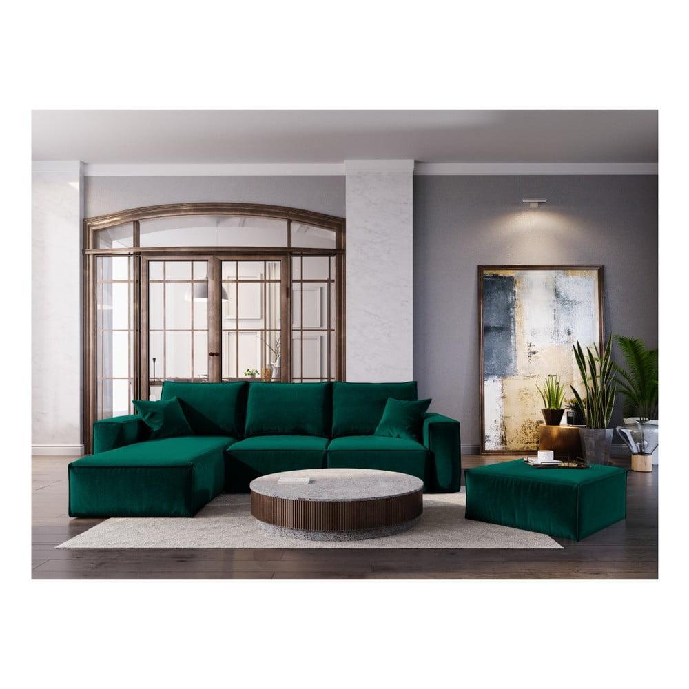 Tmavě zelený puf Cosmopolitan Design Florida, 65 x 65 cm