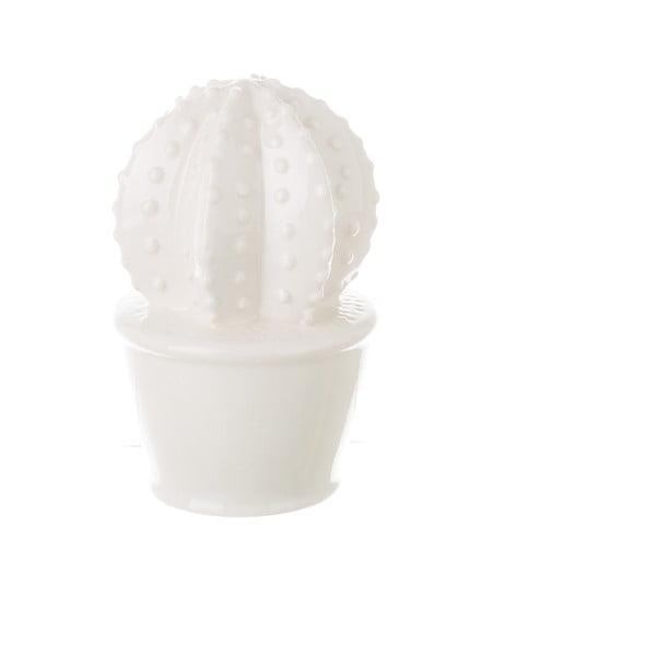 Decorațiune din ceramică Unimasa Cactus, alb