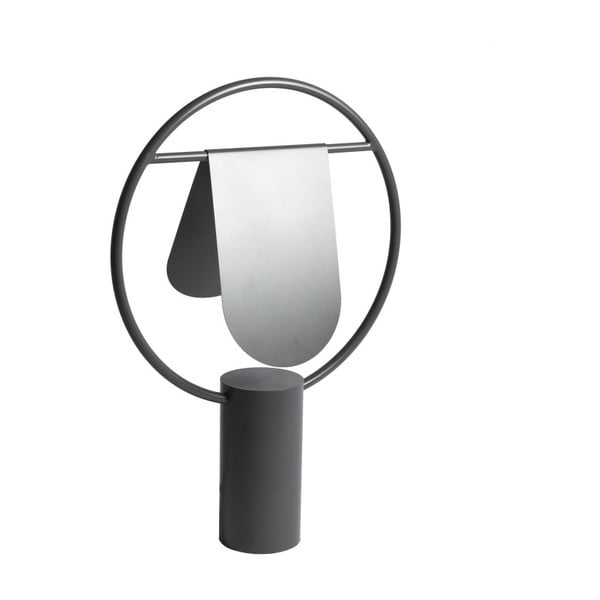 Tmavě šedá stolní lampa z kovu HARTÔ Anae