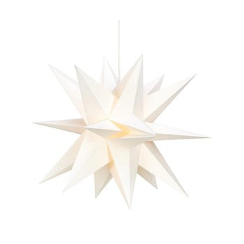 Decorațiune luminoasă suspendată 3 D Markslöjd Skillinge, ø 50 cm, alb imagine