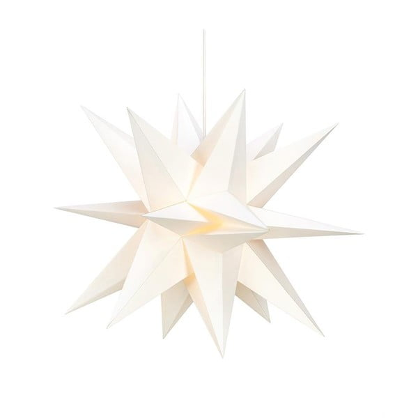 Bílá závěsná světelná dekorace Markslöjd Skillinge,výška50cm