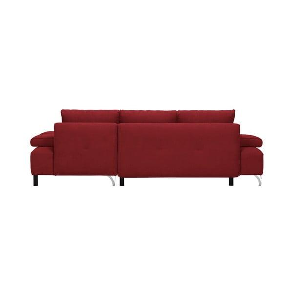 Červená rohová rozkládací pohovka Windsor & Co Sofas Virgo, levý roh