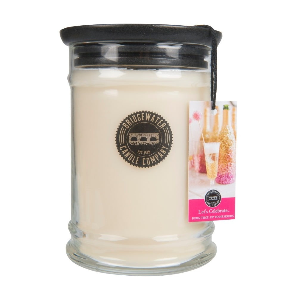 Svíčka ve skleněné dóze Bridgewater Candle Company Let's Celebrate, doba hoření 140-160 hodin