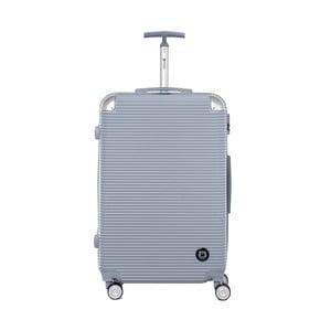 Cestovní kufr ve stříbrné barvě na kolečkách Teddy Bear Monica, 107 l