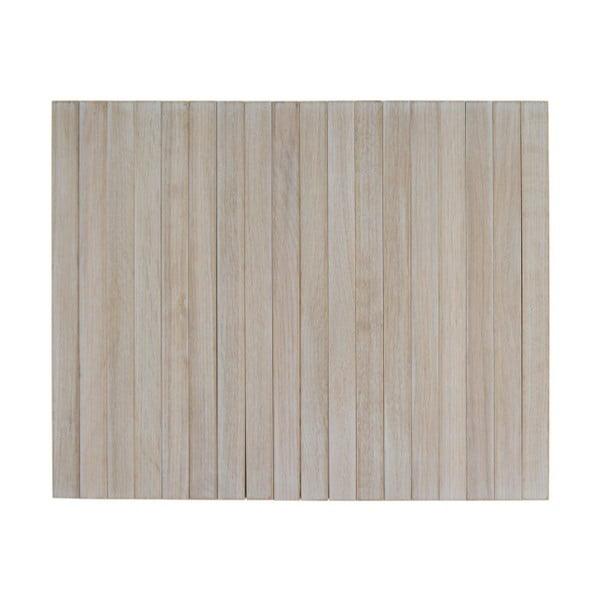 Béžová dřevěná područka na pohovku WOOOD