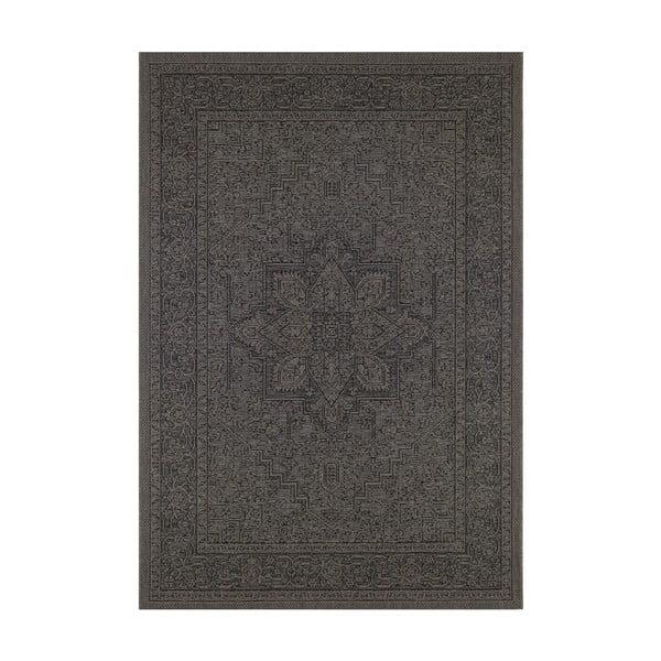 Covor potrivit pentru exterior Bougari Anjara, 140 x 200 cm, bej - negru