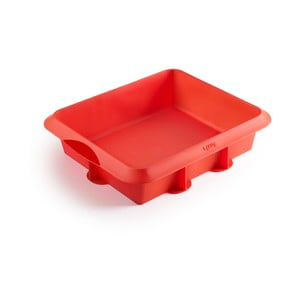 Červená silikonová forma na pečení Lékué, 25 x 20 cm