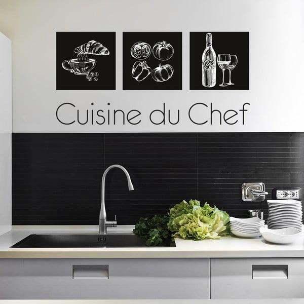 Samolepka na zeď Kuchyně šéfkuchaře, 90x60 cm