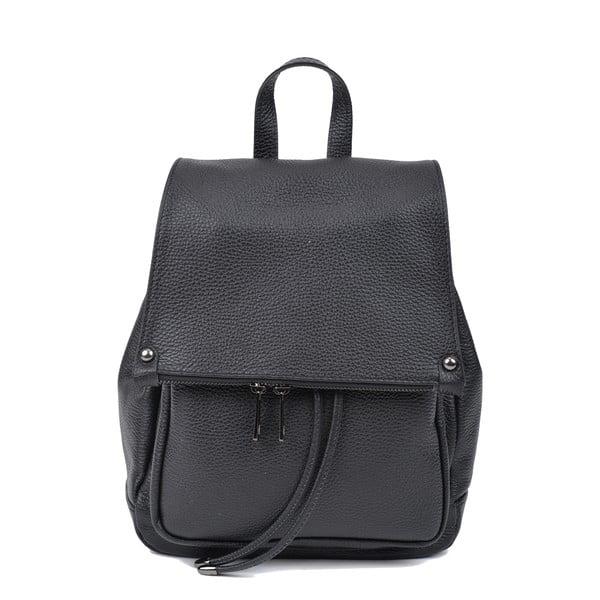 Černý kožený batoh Roberta M Aida