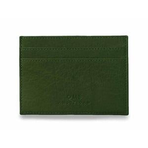 Zelené kožené pouzdro na karty a vizitky O My Bag Mark´s