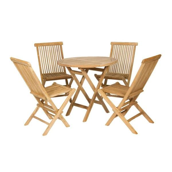 Zahradní stůl a 4 židle Valencia Natural