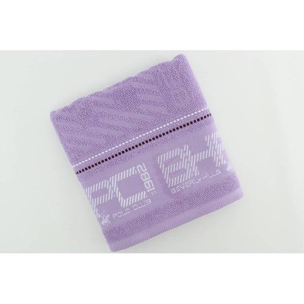 Pastelově fialový bavlněný ručník BHPC, 50x100 cm
