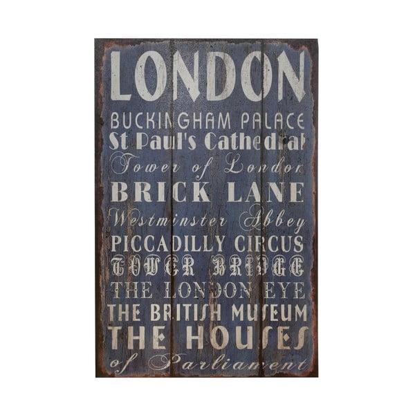 Dřevěný obraz London, 25x38 cm