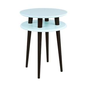 Světle tyrkysový příruční stolek s černými nohami Ragaba UFO, Ø45cm