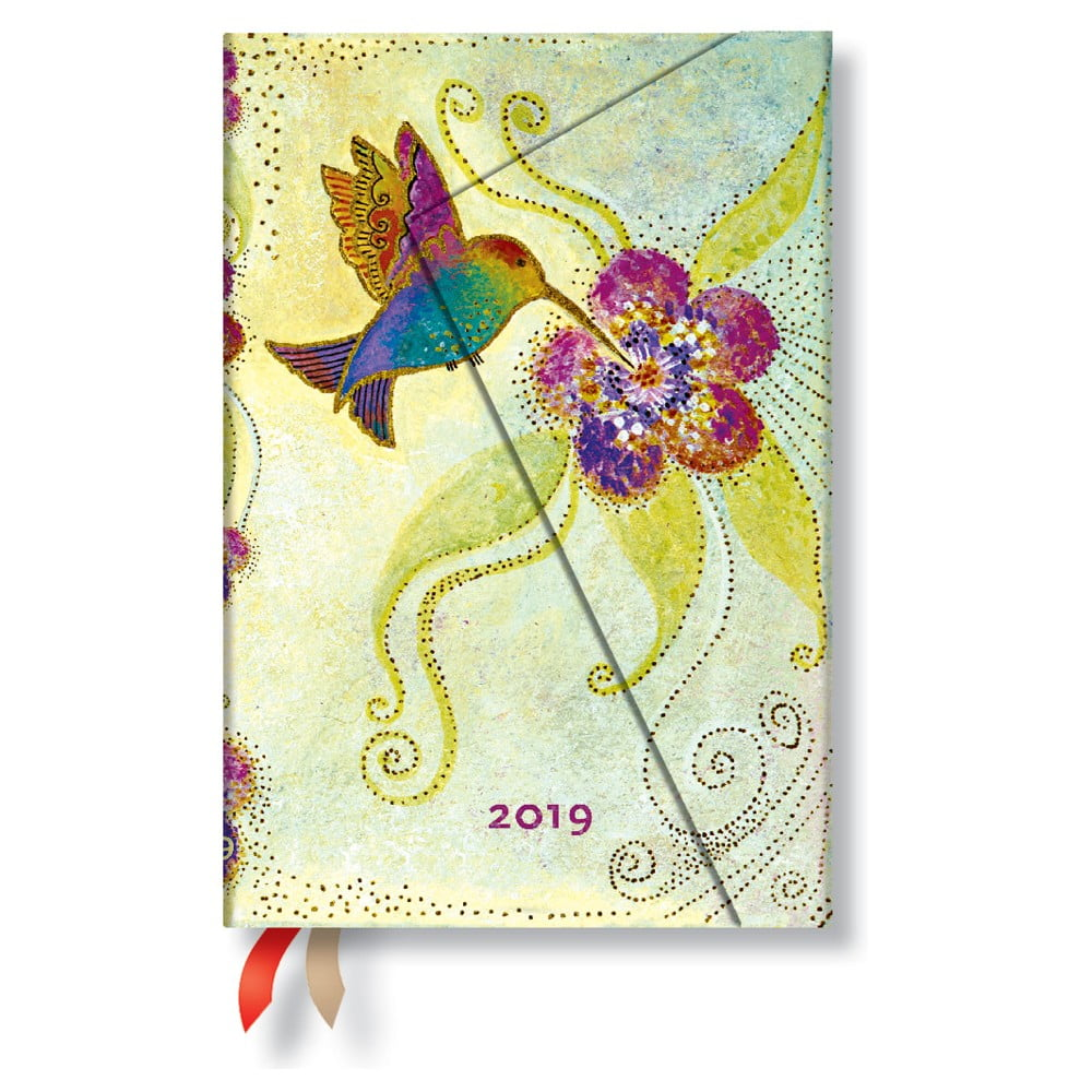 Diář na rok 2019 Paperblanks Hummingbird Horizontal, 10 x 14 cm