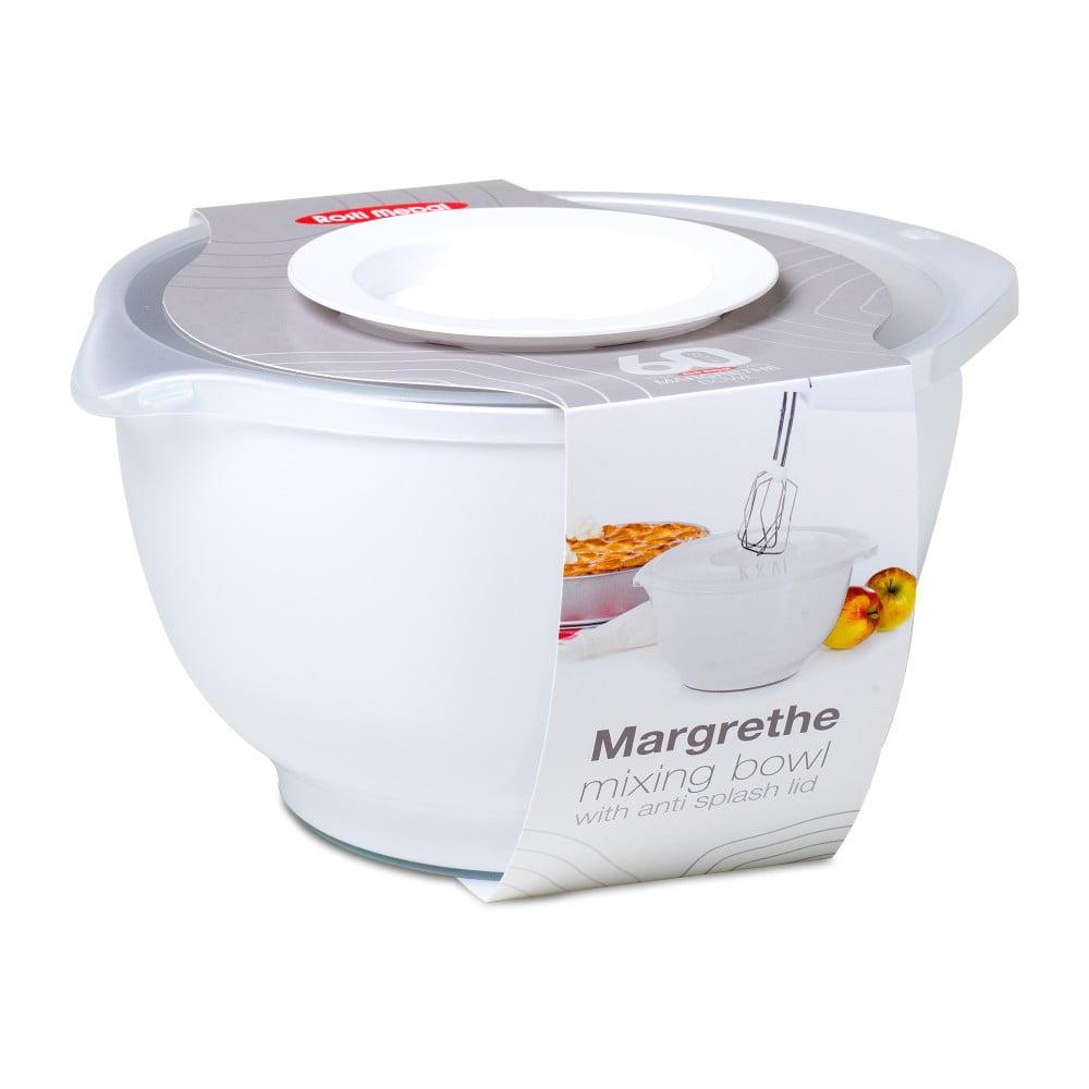 Bílá šlehací mísa s víkem Rosti Mepal Margrethe, 3 l
